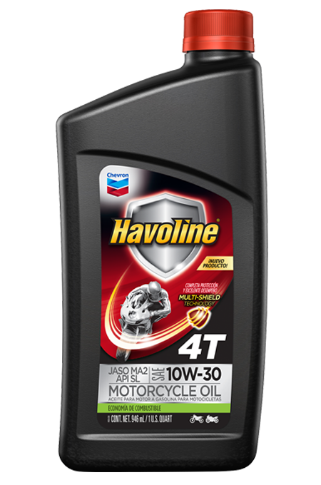 Havoline Motorcycle Oil 4T with Multi-Shield Technology SAE 10W-40 JASO MA2